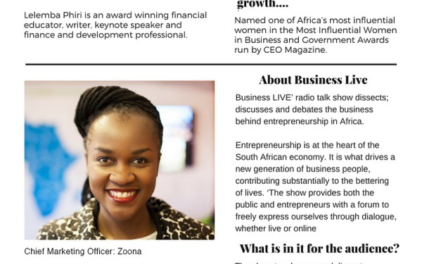 Lelemba on Business Live Program
