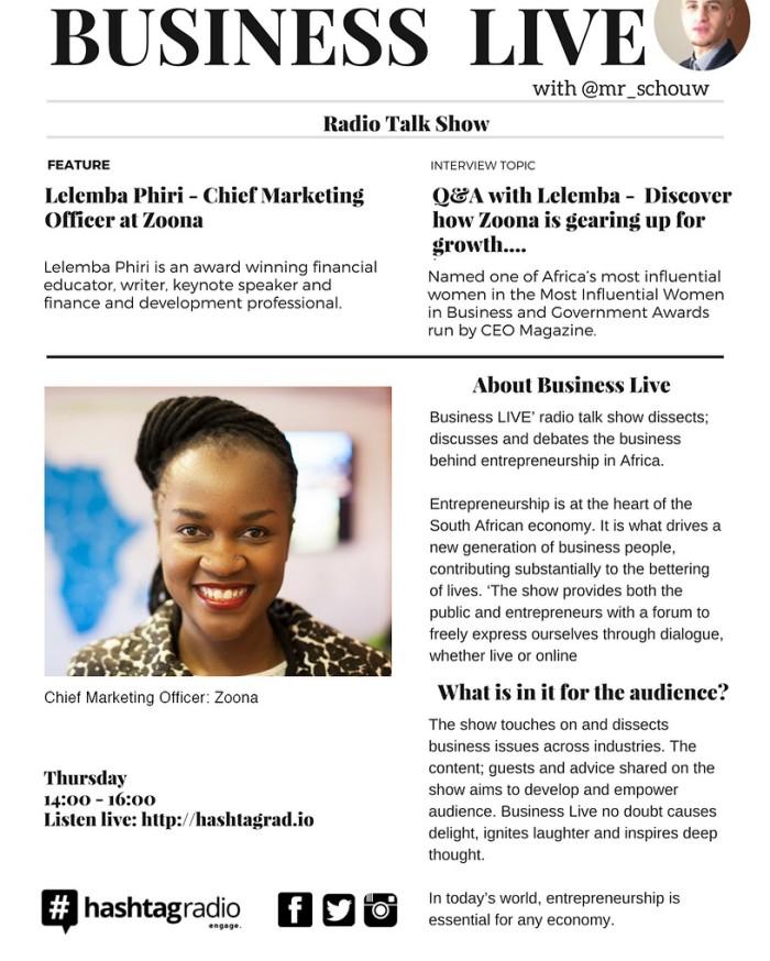 Lelemba on Business Live Program