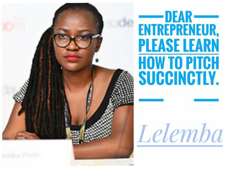 Dear Entrepreneur, please learn how to pitch succinctly